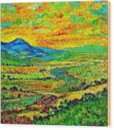 New Mexican Sunset Wood Print by Michael Durst