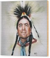 New Mexico Apache Pow Wow Dancer Wood Print