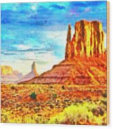 New Mexico Beautiful Desert - Pa Wood Print