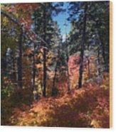New Mexico Foliage Wood Print