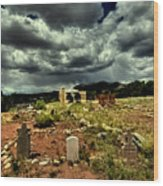 New Mexico Graveyard Wood Print