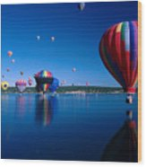 New Mexico Hot Air Balloons Wood Print