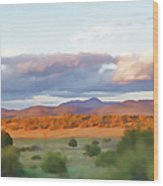 New Mexico Pastel Wood Print