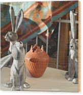 New Mexico Rabbits Wood Print