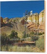 New Mexico Ranch Wood Print