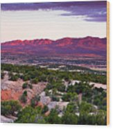 New Mexico Sunset Wood Print