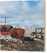 New Mexico Tractor Wood Print