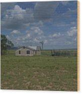 New Mexico Wind Mill Wood Print