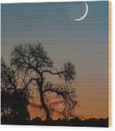 New Moon At Beaver Creek, Arizona, I Wood Print