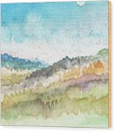 New Morning- Watercolor Art By Linda Woods Wood Print