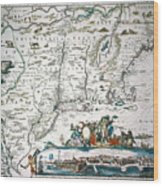 New Netherland Map Wood Print