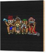 New No Evil Monkeys Wood Print