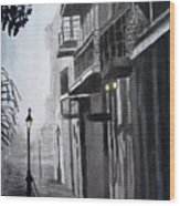 New Orleans At Night Wood Print