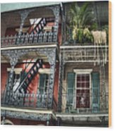New Orleans Balconies No. 4 Wood Print