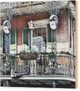 New Orlean's Balcony Wood Print
