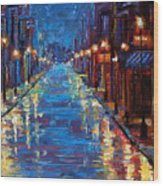 New Orleans Bourbon Street Wood Print