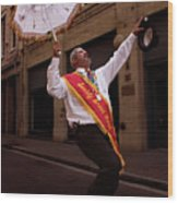 New Orleans Brass Band Leader Wood Print