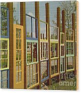 New Orleans Closed Door And A Window Of Many Views Wood Print