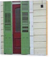 New Orleans Door 11 Wood Print