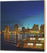 New Orleans Downtown Skyline Wood Print