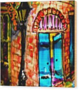 New Orleans French Quarter Wood Print