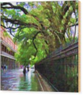 New Orleans French Quarter Paint  Wood Print