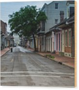 New Orleans French Quarter Special Morning Wood Print