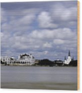 New Orleans From Algiers Point - In Color Wood Print