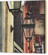 New Orleans Gas Lamps Wood Print