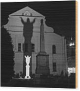 New Orleans Ghosts Wood Print