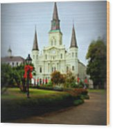 New Orleans Holiday Wood Print