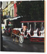 New Orleans Horse Carriage Wood Print