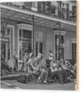 New Orleans Jazz 2 - Bw Wood Print