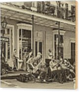 New Orleans Jazz 2 - Sepia Wood Print
