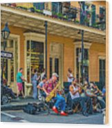 New Orleans Jazz 2 Wood Print