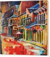New Orleans Jive Wood Print