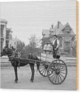 New Orleans: Milk Cart Wood Print