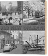 New Orleans Nostalgia Wood Print