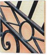 New Orleans Orange Wood Print