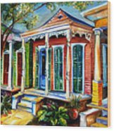 New Orleans Plain And Fancy Wood Print