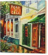 New Orleans Port Of Call Wood Print