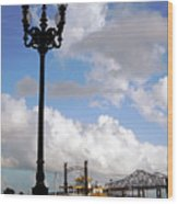 New Orleans Riverwalk Wood Print by Joy Tudor