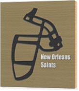 New Orleans Saints Retro Wood Print