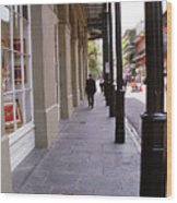 New Orleans Sidewalk 2004 Wood Print
