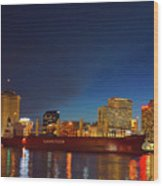 New Orleans Skyline At Night  Wood Print