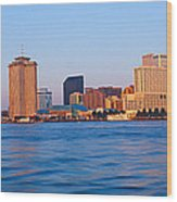 New Orleans Skyline From Algiers Point Wood Print