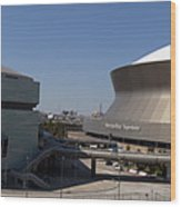 New Orleans Sports And Entertainment Complex Wood Print
