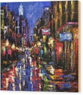 New Orleans Storm Wood Print
