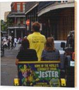 New Orleans Street Bike Taxi Wood Print