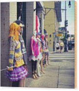 New Orleans Street Mannequins Wood Print